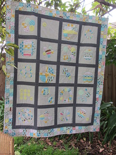 Bee Seam Piecing Down Under - a finished quilt