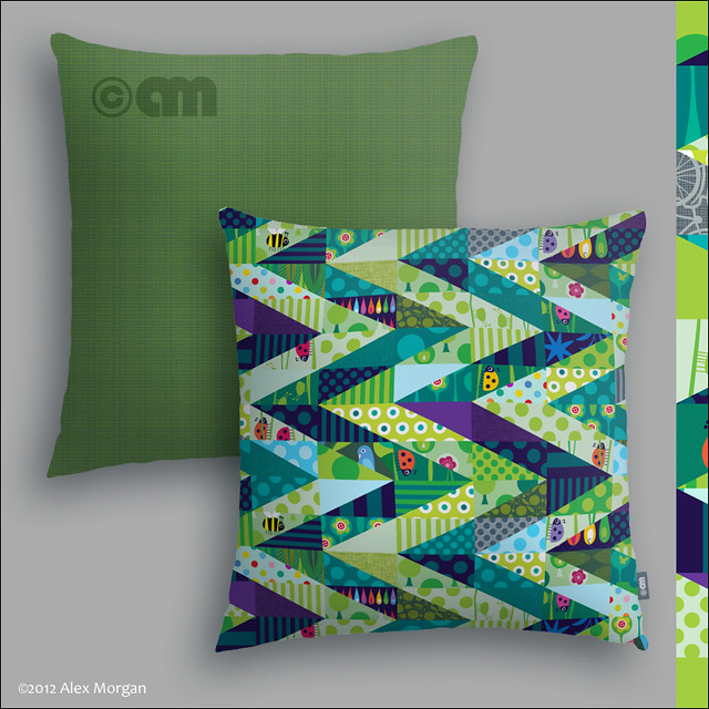 The Way Through the Woods. cushions