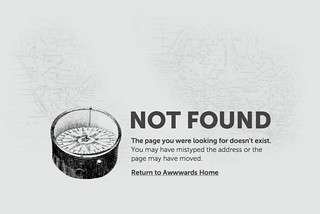 Awwwards, @awwwards – 404 | by pioupioum