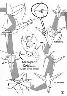 Klingon Battle Cruiser origami diagram Easy version 2   by Matayado-titi