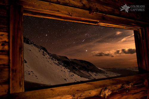 sky moon snow mountains boston night clouds stars snowshoe spring cabin ruins colorado mine alpine sirius orion moonlight allrightsreserved tramstation lightpaint mayflowergulch bostonmine starryskies fletchermountain coloradocaptures copyright2012bymikeberenson nighttimesnowshoetrekabovetimberline