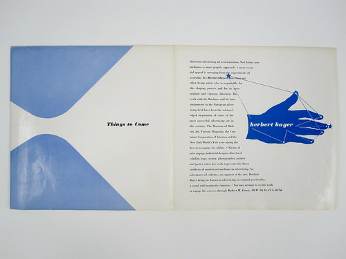 Herbert Bayer, Things to Come. Self-promo brochure. 1939 | by Herb Lubalin Study Center