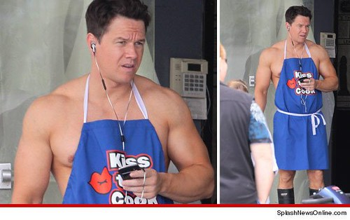 "Mark Wahlberg on the set of ""Pain and Gain"""