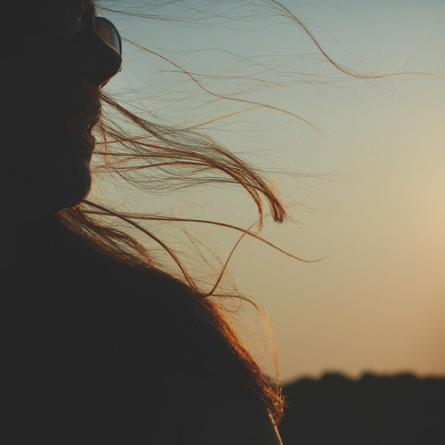 sunset woman silhouette hair blowinginthewind rslphotography rslphotographics