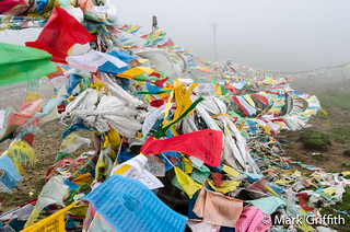 Prayer Flags at 14K   by Mark Griffith
