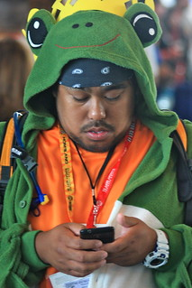 San Diego Comic-Con International 2012: Froggy texting | by kevin dooley