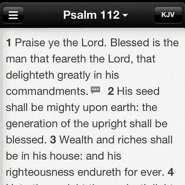 Daily Confessions: Psalm 112:1-3