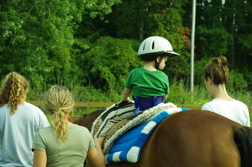 Jacob does hippotherapy | by Talisman Therapeutic Riding