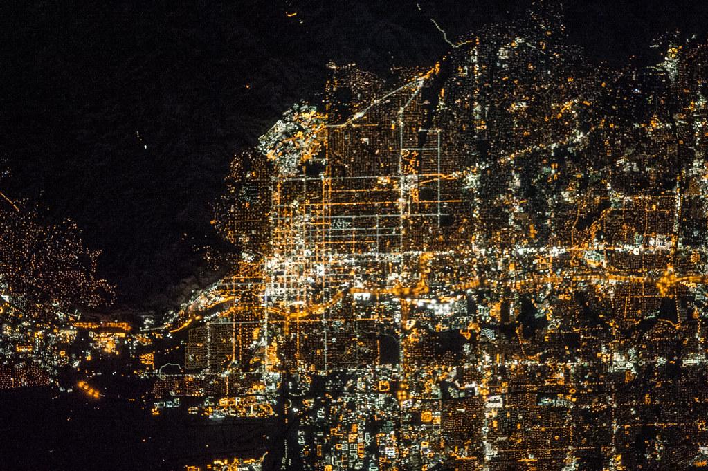 Salt Lake City At Night Nasa International Space Station