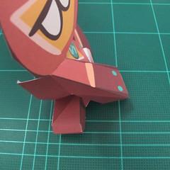 วิธีทำโมเดลกระดาษตุ้กตาคุกกี้รัน คุกกี้รสฮีโร่ (LINE Cookie Run Hero Cookie Papercraft Model) 021