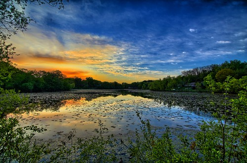 blue sunset orange lake 3 reflection green nature water leaves minnesota yellow clouds canon landscape colorful natural mark smoke iii horizon wing sunsets 5d mn minnetonka sunsettime