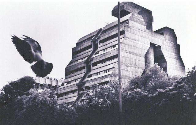 Brutalism in Delhi, National Cooperative Devlopment Corporation by Kuldip Singh, 1981
