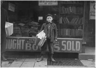 12 year old Newsboy. Hyman Alpert, been selling three years. Spends evenings in Boys Club. New Haven, Conn, March 1909
