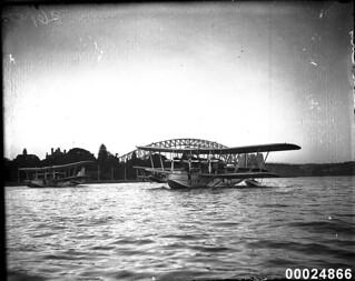 Three Short Rangoon flying boats moored at Farm Cove, Sydney