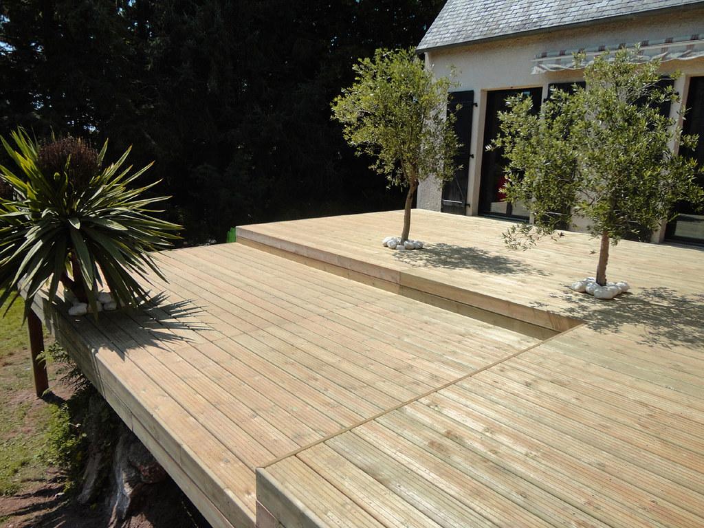 Terrasse En Bois Et Jardin kerbrat jardins - terrasse bois surélevée à niveaux l03 | flickr