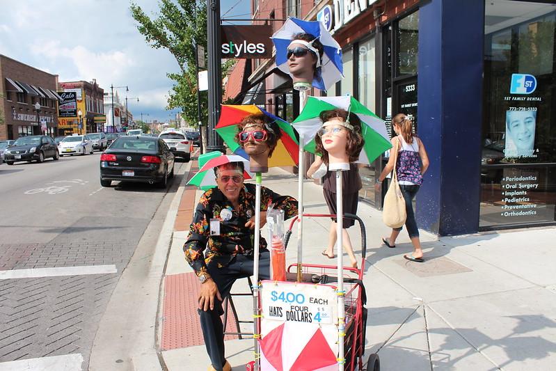The Umbrella Hat Man In Andersonville