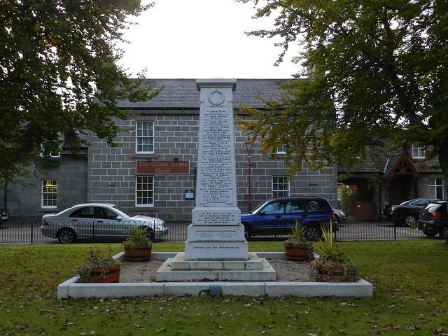 Monymusk War Memorial, Monymusk, Aberdeenshire, October 2012
