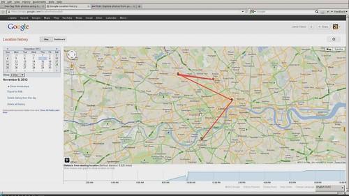 Geo-Tagging Flickr photos using Google Latitude data by Jamie Kitson