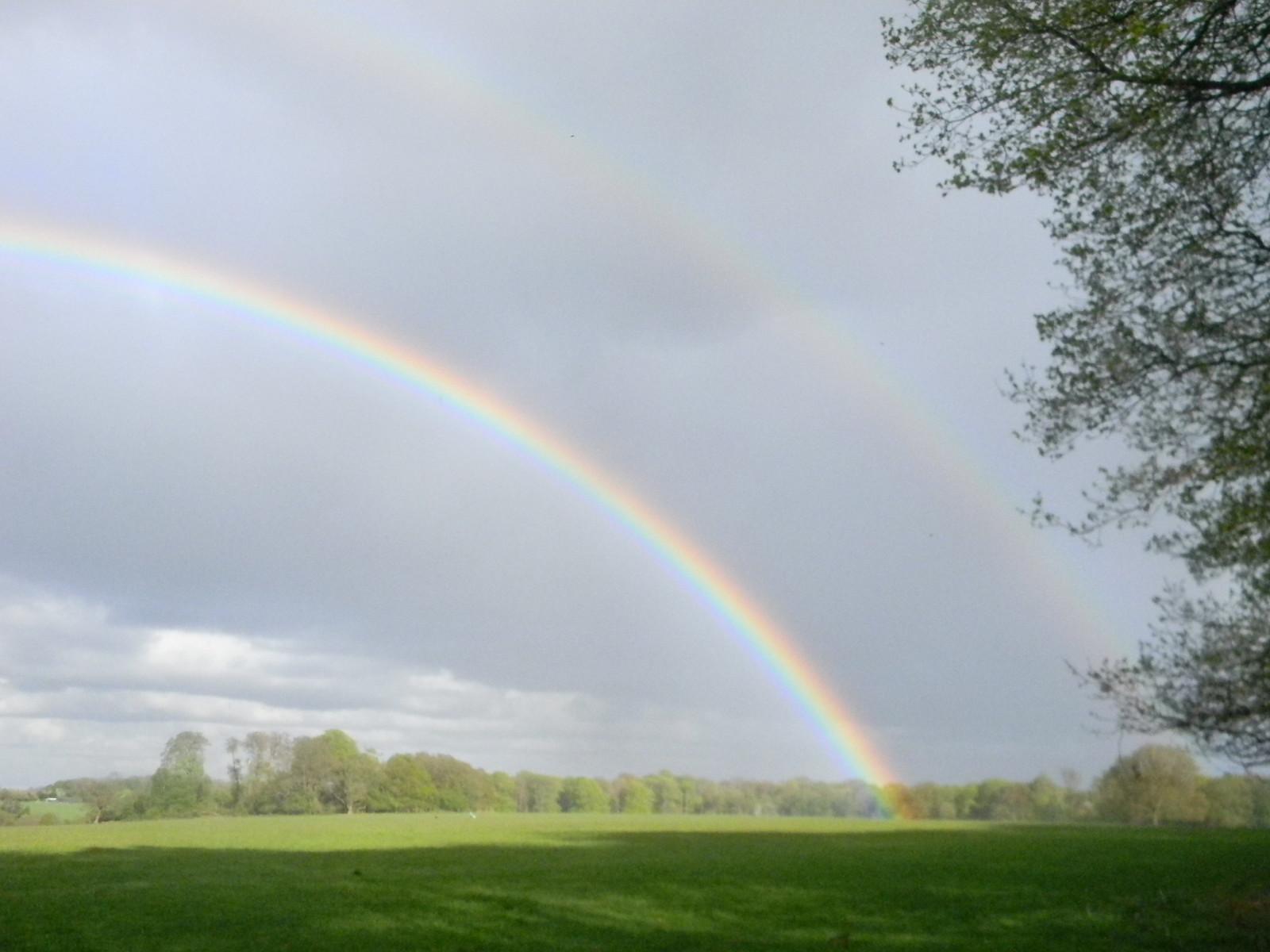 Double rainbow over Ashridge Tring to Berkhamsted
