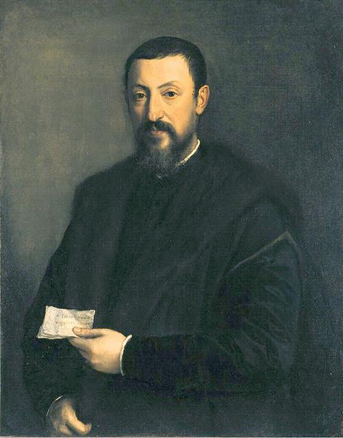 Titian: Portrait of a friend of Titian (Portrait of a Gentleman) [1550]