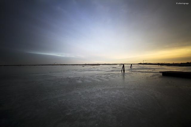 Laguna ghiacciata