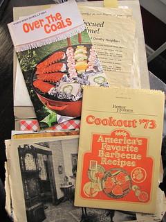 "In ""Barbecue Recipes"" folder, found at garage sale"