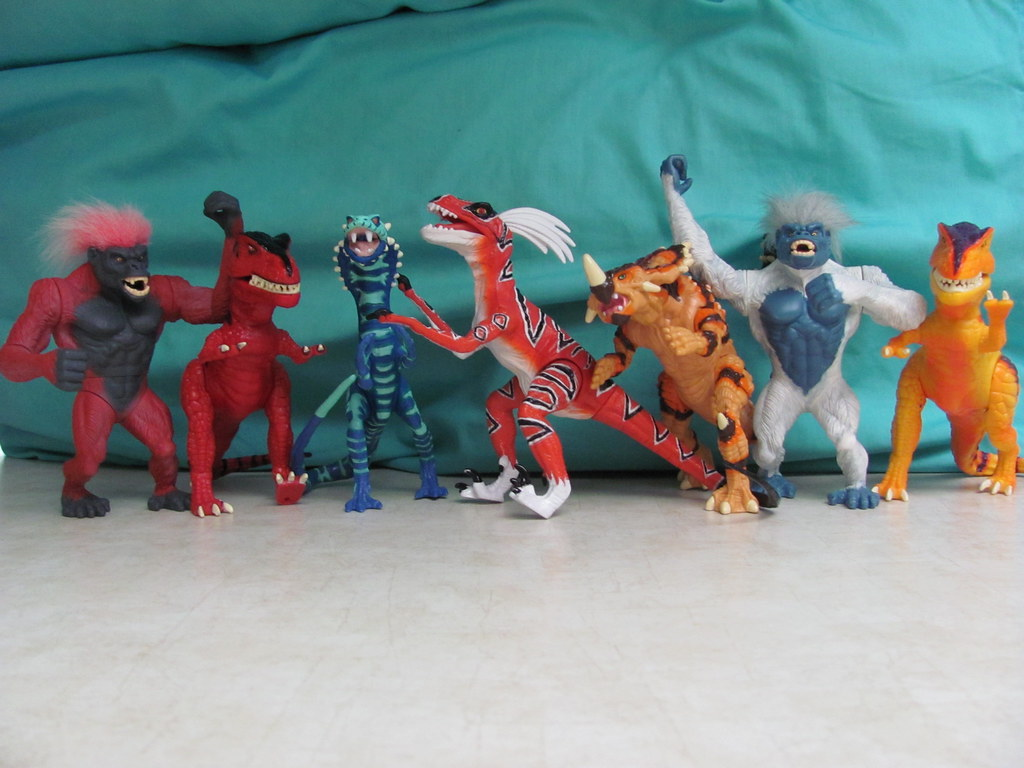 Primal Rage Toys All Of The Player One Colored Primal Rage Flickr