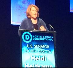 Senator Heidi Heitkamp speaks at ND Democratic Convention