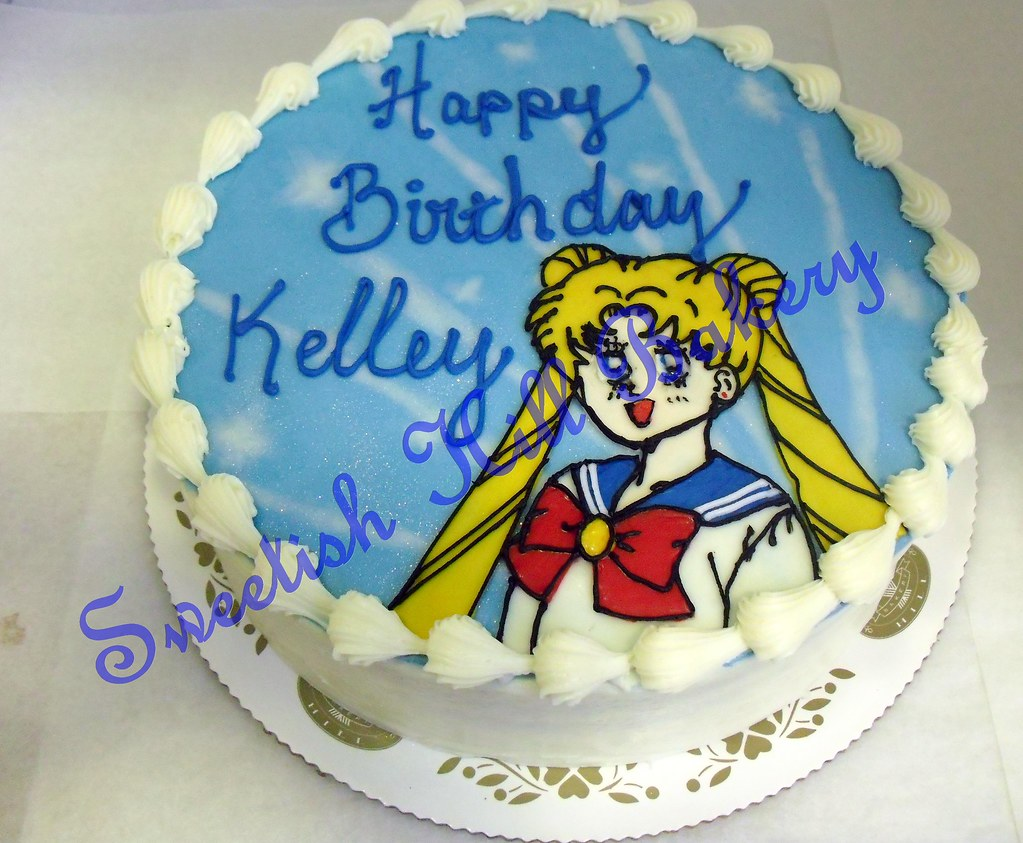 Stupendous Sailor Moon Birthday Cake Custom Design On An 8 Inch Cake Flickr Personalised Birthday Cards Paralily Jamesorg