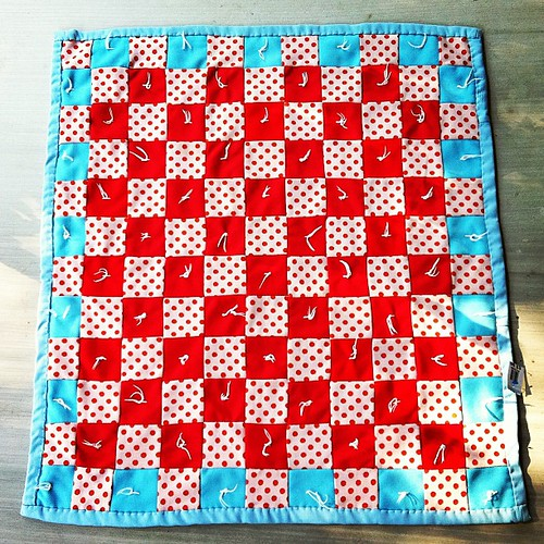A study in simplicity. Vintage checkered quilt tied with yarn. | by gina pina