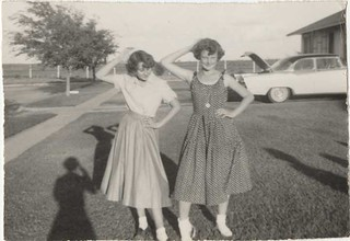 Gwen and Linda, Snyder, Texas c. 1950s