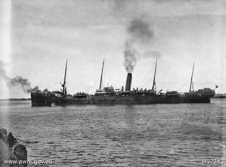 Ww1 Troop Ship Ss Seang Choon Charles Mitchell Embarked Flickr