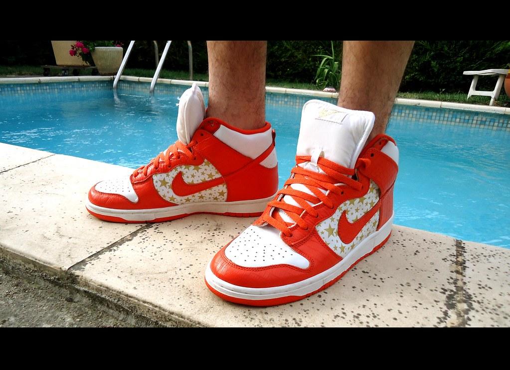 online retailer 626b8 d9439 ... Nike Dunk High Pro SB Supreme Orange   by Sneaker Freak