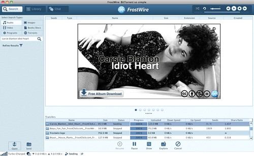 Carsie Blanton: Idiot Heart featured on FrostWire