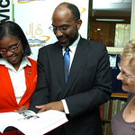 "JNBS donates book,""Behind the scenes at King's House 1873 -2010"" to Jamaica Library Service"