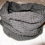 Burberry inspired cowl neck scarf for Sarah
