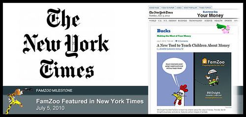 July 5, 2010: FamZoo Featured in New York Times | by FamZoo