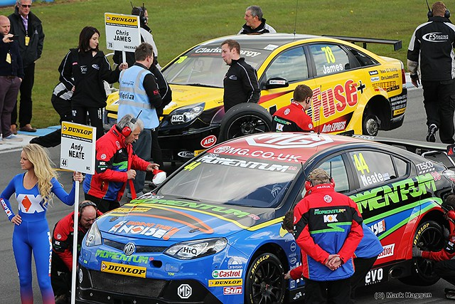 Chris James and Andy Neate on the grid