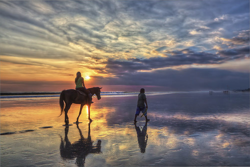 Girl riding a horse at sunset on Bali | by Jimmy McIntyre - Editor HDR One Magazine