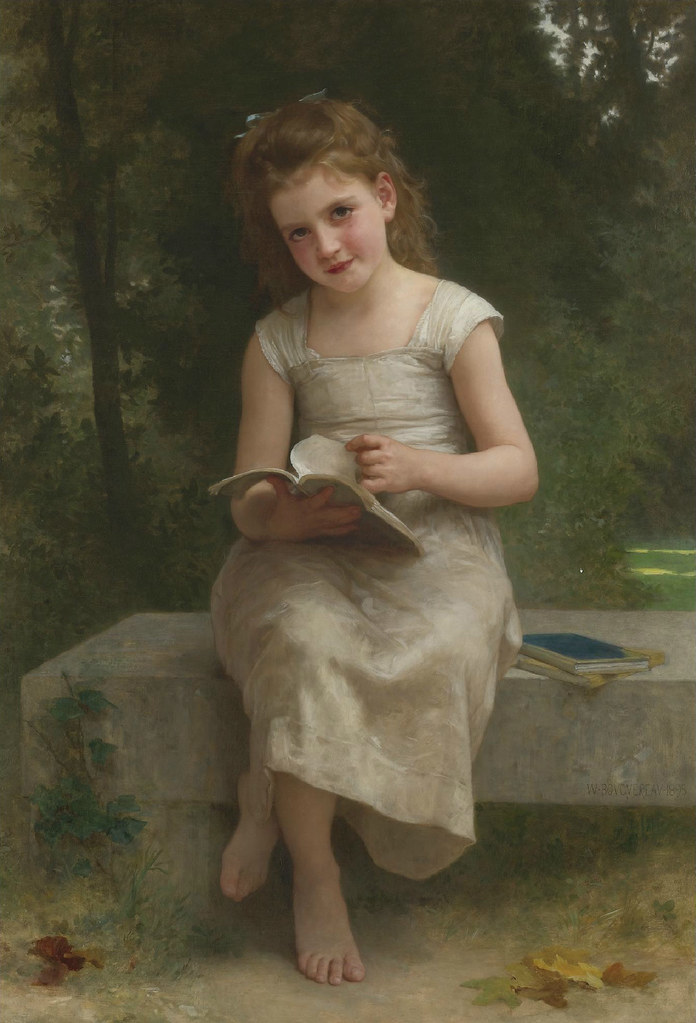 William-Adolphe Bouguereau 'The Reader' 1895  The subject o…  Flickr
