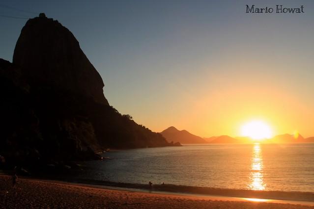 Nascer do Sol na Praia Vermelha - Rio de Janeiro