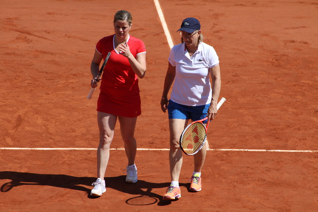 Kim Clijsters and Martina Navratilova