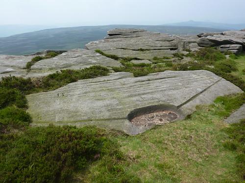 Gritstone Rocks on Stanage Edge SWC Walk 266 - Sheffield to Bamford (via Burbage Rocks and Stanage Edge) or to Moscar Lodge