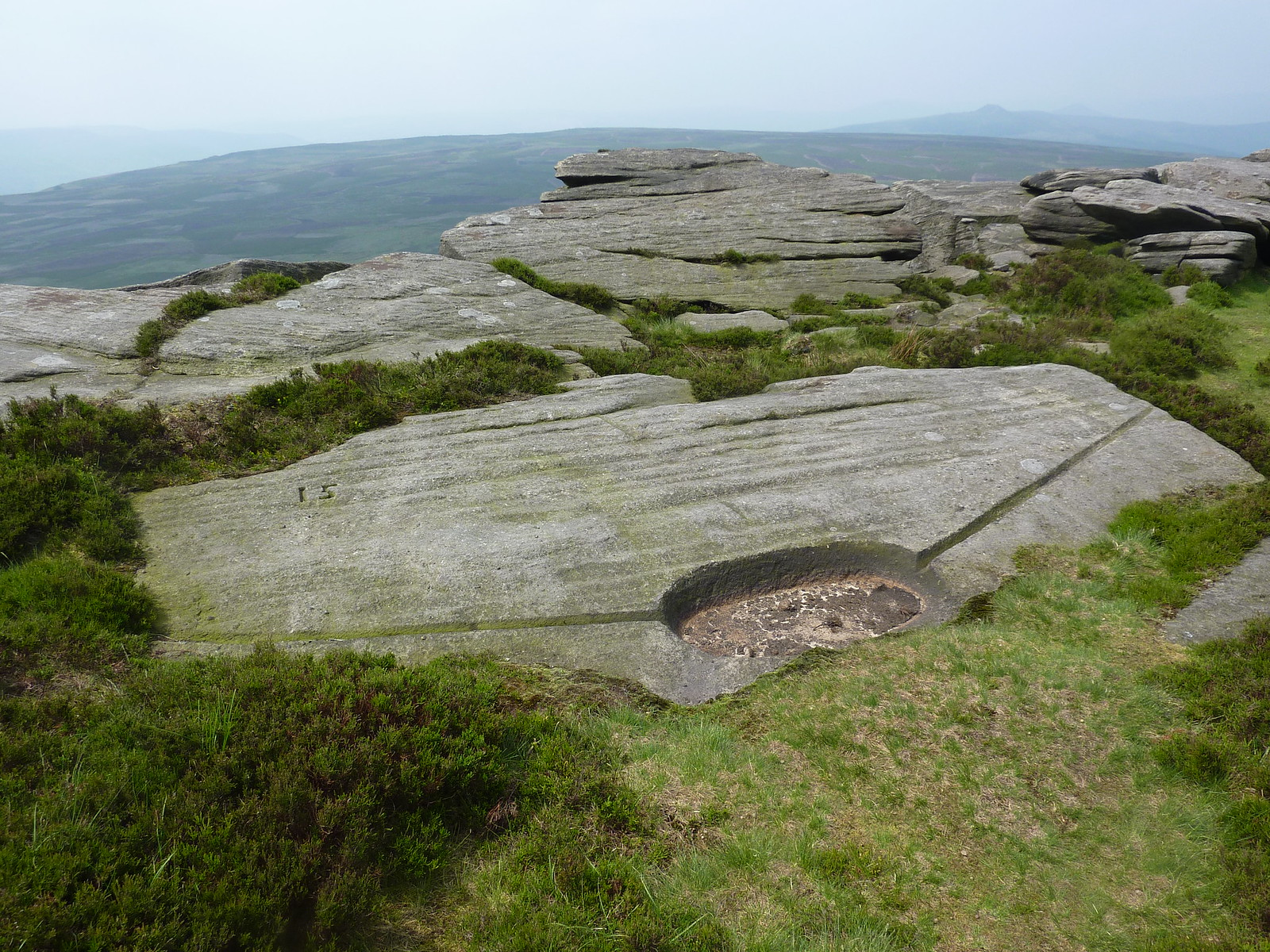 Gritstone Rocks on Stanage Edge SWC Walk 266 - Sheffield to Bamford (via Burbage Rocks and Stanage Edge) or to Moscar Lodge