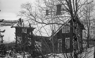 Trebygning ved Østmarka sykehus (1981)