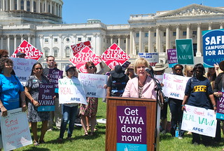 Rep. Judy Biggert at VAWA Rally | by The Leadership Conference on Civil and Human Right