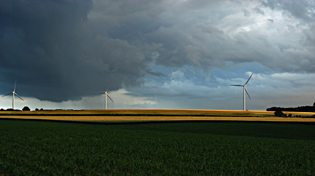 Orage sur la campagne / Storm on the countryside