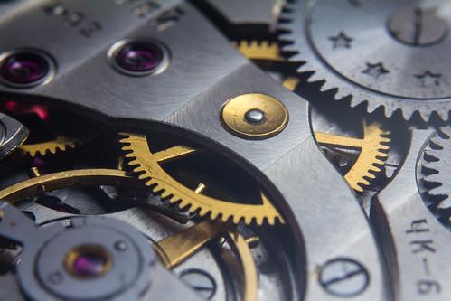 Molnija 3601 watch movement macro | by GuySie