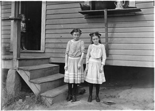 Father said, the little one is a cracker-jack on spinnin', at least so the boss says. She ain't satisfied unless in the mill. The oldest one isn't so good at it, November 1908