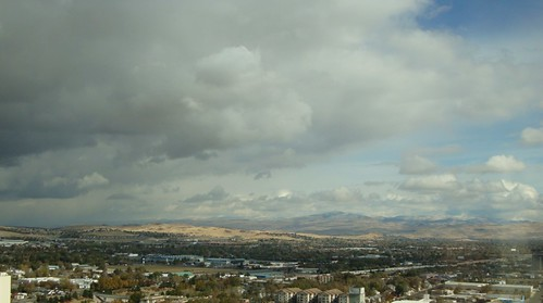 sky mountains clouds downtown smoke casino nv reno